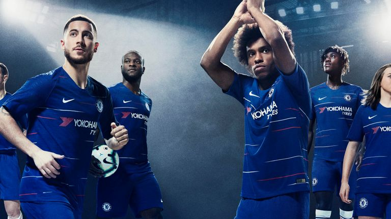 Chelsea will wear their new home shirt against Newcastle on Sunday e9f6bf2e9