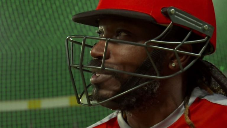 Cork Ball Cricket Bat: Chris Gayle Bosses Dominic Cork In IPL Nets Challenge In