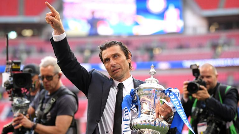 Conte dedicates the Blues' latest FA Cup to the supporters at Wembley