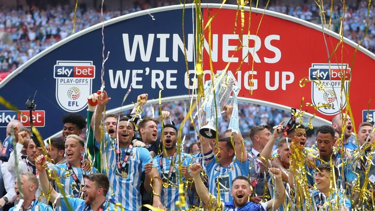 during the Sky Bet League Two Play Off Final between Coventry City and Exeter City at Wembley Stadium on May 28, 2018 in London, England.