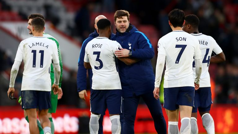 during the Premier League match between AFC Bournemouth and Tottenham Hotspur at Vitality Stadium on March 11, 2018 in Bournemouth, England.