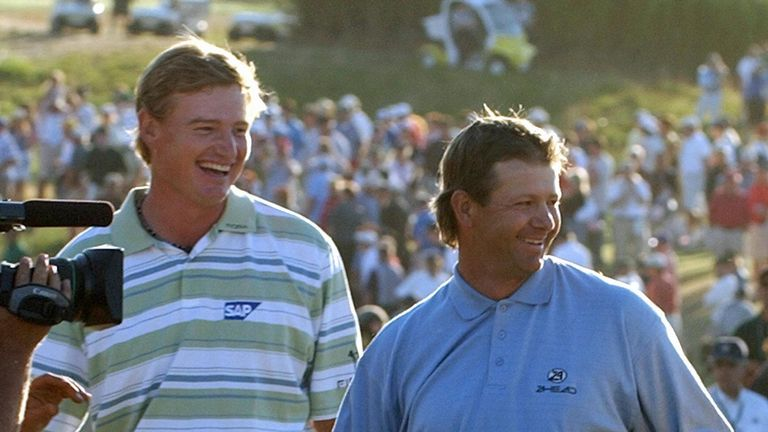 Goosen played the final round with Ernie Els at Shinnecock Hills in 2004