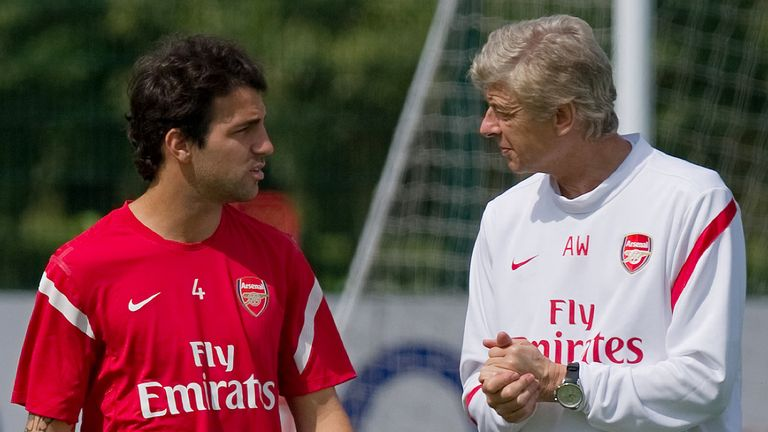 Cesc Fabregas played for eight years under Arsene Wenger at Arsenal