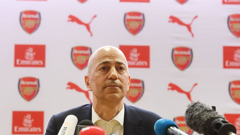 Arsenal chief executive Ivan Gazidis has been linked with a move to AC Milan