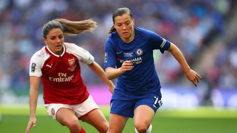 Kirby helped Chelsea Ladies win the Women's FA Cup at Wembley