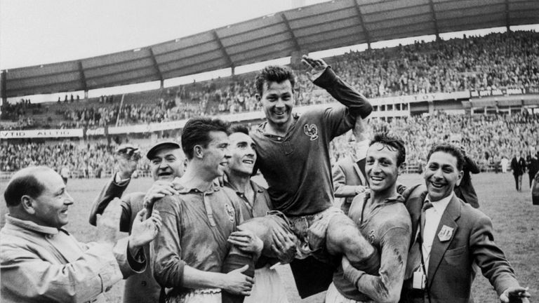 Just Fontaine scored four goals in the third-placed match with West Germany