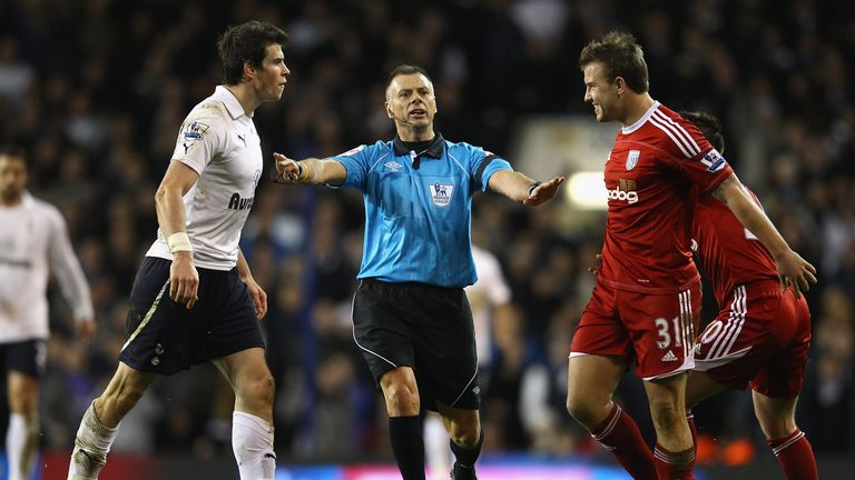 Squaring up to Gareth Bale during his days in the Premier League