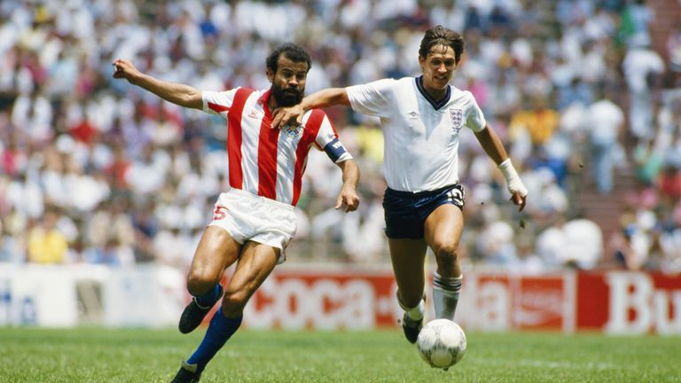 Gary Lineker wore his cast throughout the tournament.