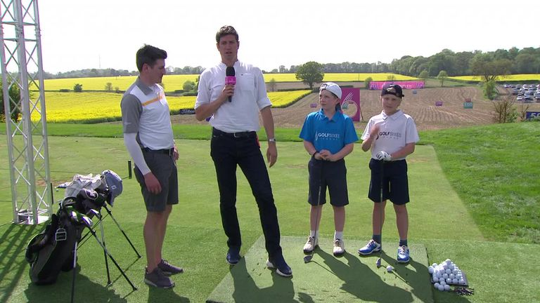 The Golf Foundation worked with youngsters at the GolfSixes