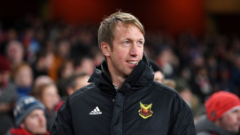 Graham Potter was in charge of Ostersunds before switching to Swansea in the summer