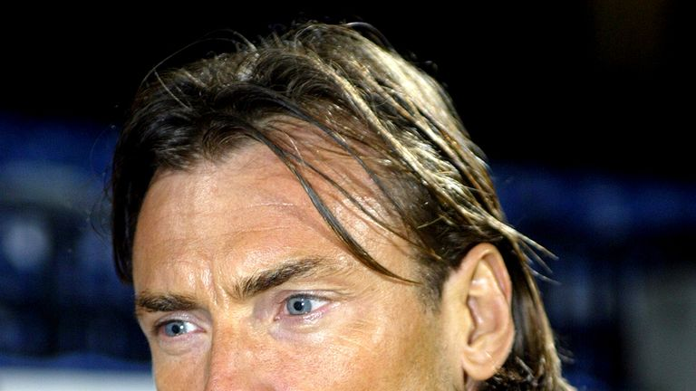 Herve Renard, manager of Cambridge United, prior to the Coca Cola League Two match between Cambridge United and Northampton Town held at the Abbey Stadium, Cambridge on October 15, 2004