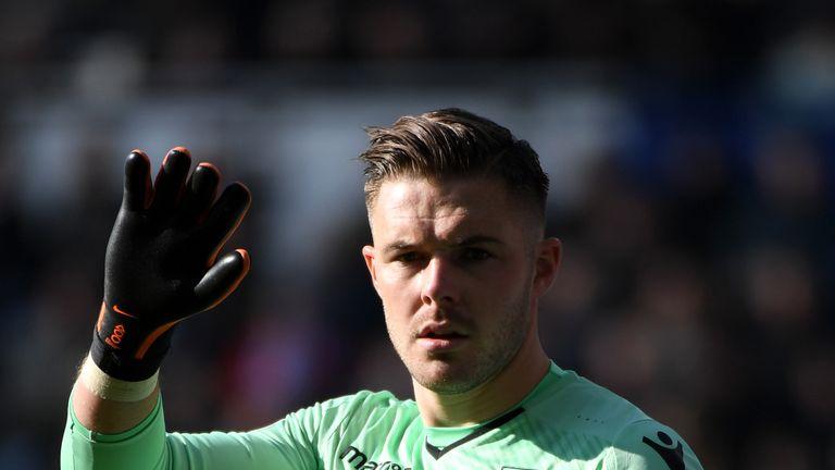 Jack Butland's glove is worth £35m, joked Paul Lambert