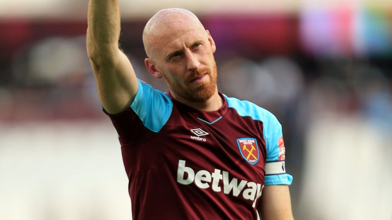 James Collins is set to return to football with Ipswich