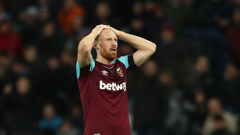 34-year-old James Collins spent 10 years with the Hammers across two spells.