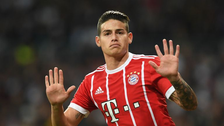 James Rodriguez is on loan at Bayern Munich from Real Madrid