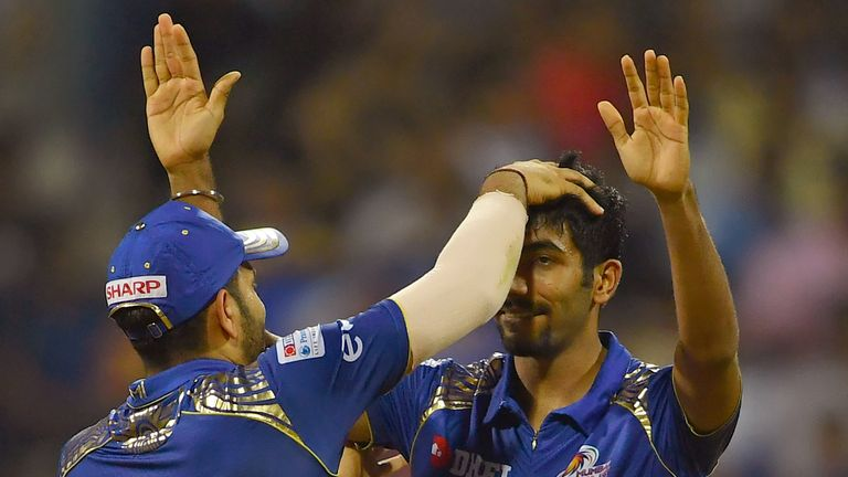 An incredible spell of bowling from Jasprit Bumrah fired Mumbai to a crucial win (Credit: AFP)