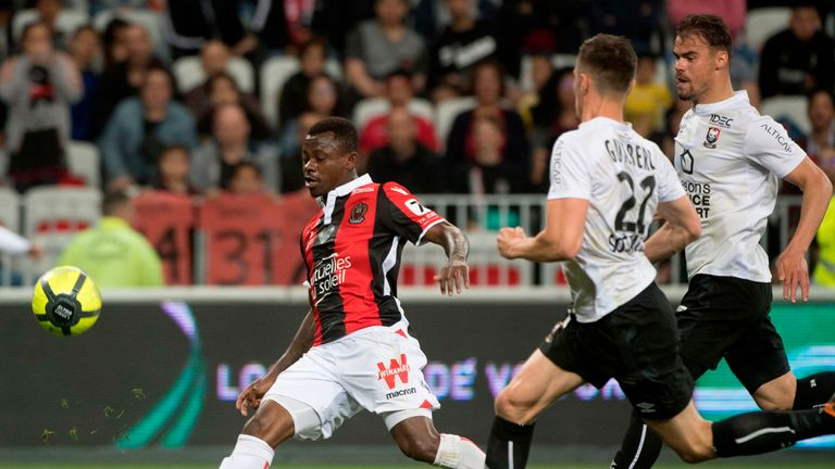 Jean Michael Seri in action for Nice