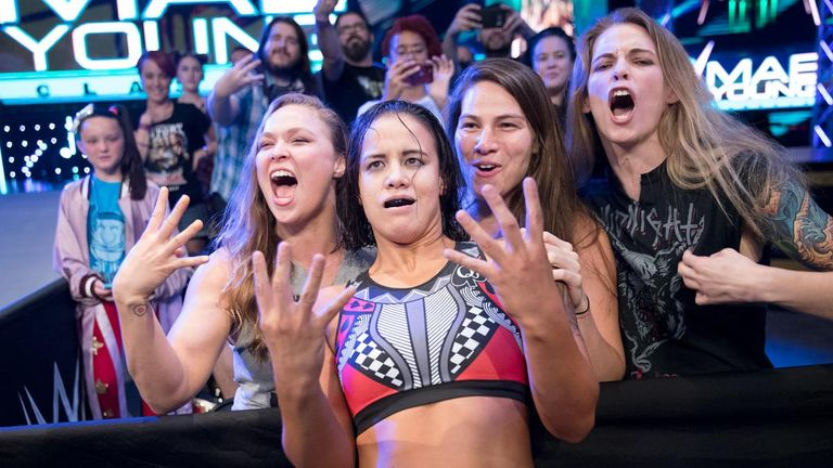 Could the MMA Four Horsewomen - Jessamyn Duke, Marina Shafir, Ronda Rousey and Shayna Baszler - take on their WWE counterparts?