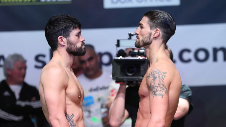 John Ryder and Jamie Cox both made the super-middleweight limit