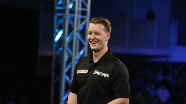 Josh Payne claimed his second PDC title. Credit: Lawrence Lustig/PDC