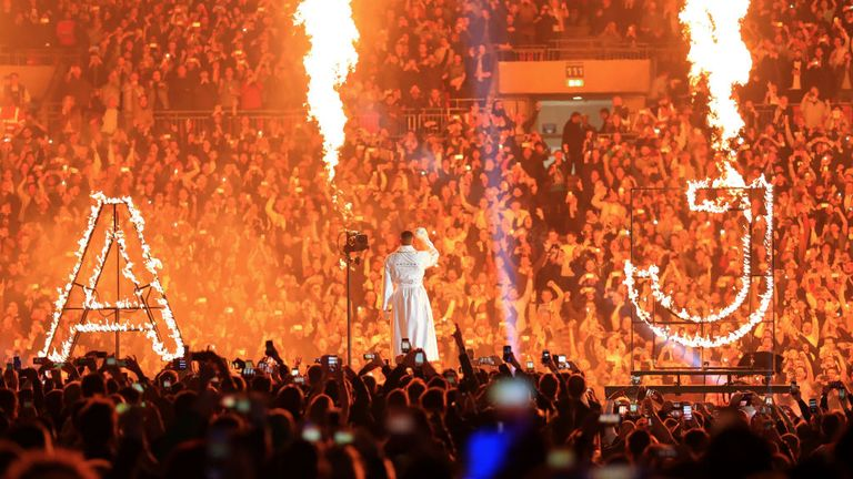 Joshua will be back at Wembley Stadium in front of another massive crowd
