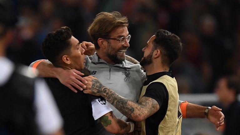 Jurgen Klopp celebrates after Liverpool's semi-final success