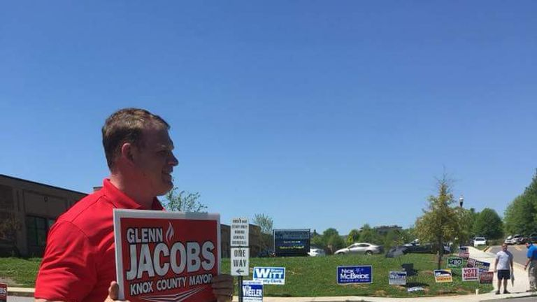 Kane - real name Glenn Jacobs - was elected mayor of Knox County in Tennessee but will make 'special appearances' in WWE