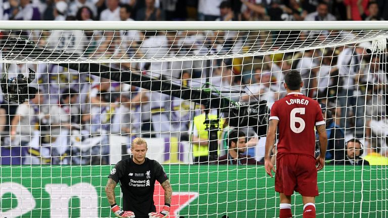 Karius was at fault for two of Real Madrid's three goals in the Champions League final