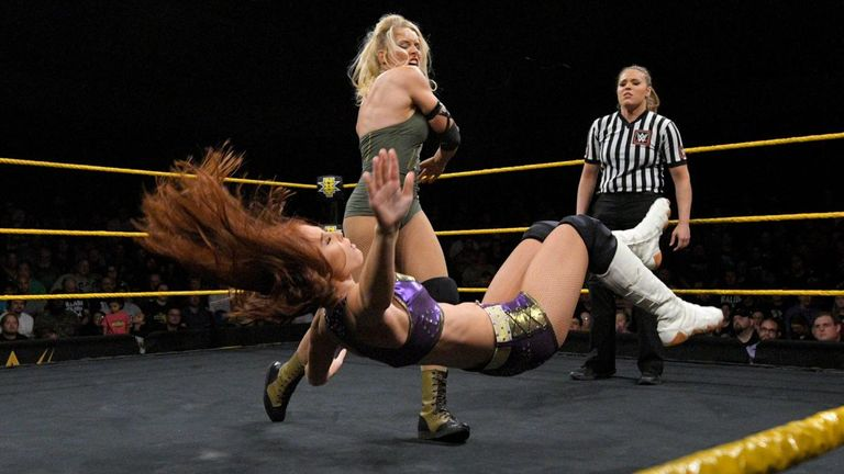 Lacey Evans looked strong on NXT this week