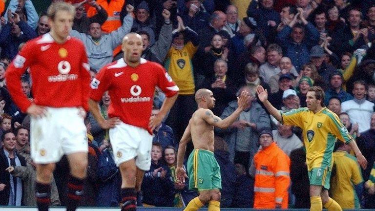Leon mcKenzie norwich Man utd goal Premier league