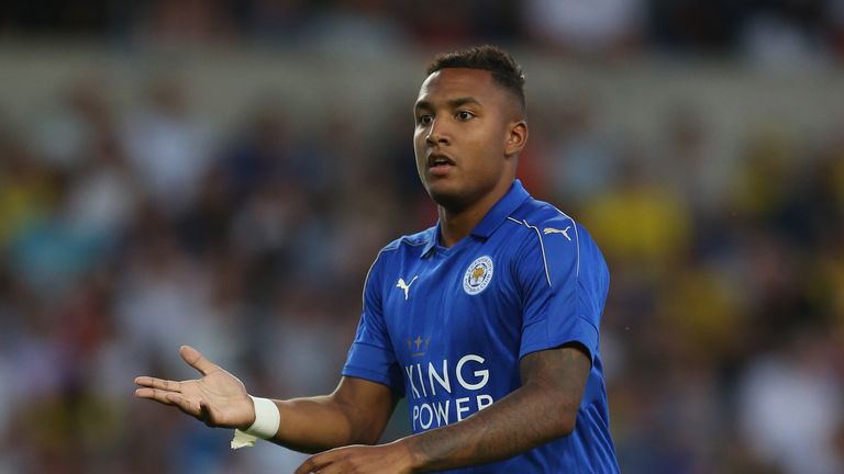 Liam Moore playing for Leicester