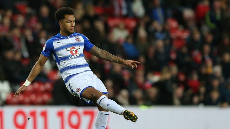 SUNDERLAND, ENGLAND - DECEMBER 02:  Liam Moore of Reading during the Sky Bet Championship match between Sunderland and Reading at Stadium of Light on December 2, 2017 in Sunderland, England. (Photo by Nigel Roddis/Getty Images,)