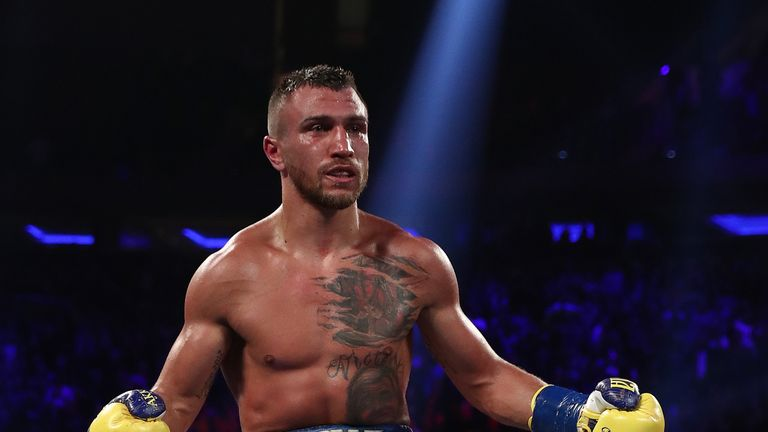Lomachenko made boxing history by winning a world title in a third weight division in his 12th fight