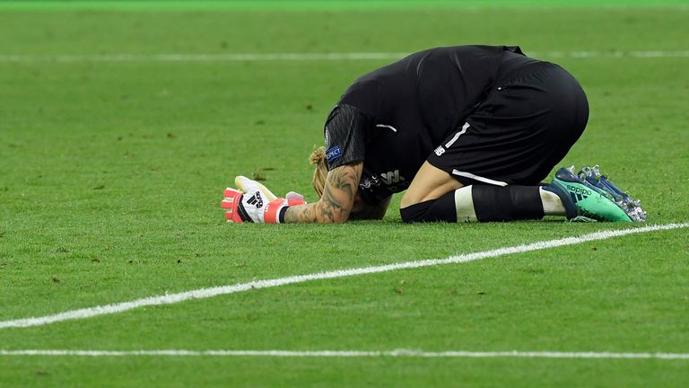 Loris Karius after Liverpool's Champions League final defeat to Real Madrid