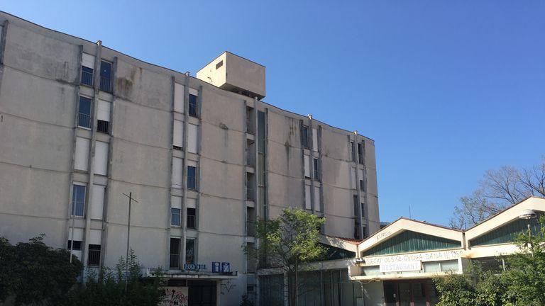 The Hotel Iz in Zadar where Croatia captain Luka Modric grew up as a refugee