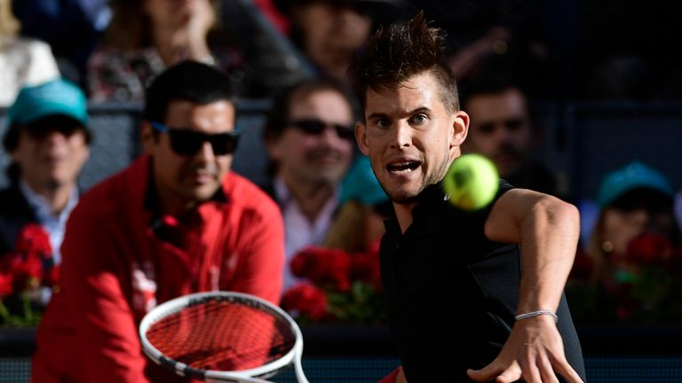 Thiem beat Rafael Nadal in the quarter-finals on Friday to end the Spaniard's unbeaten clay run