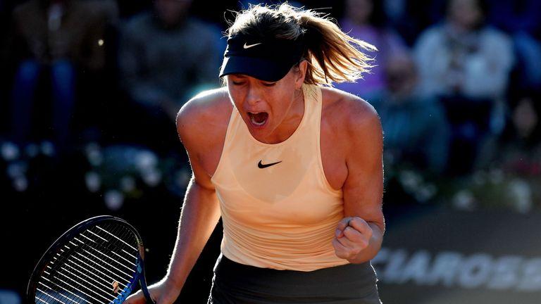 Maria Sharapova came through against Ashleigh Barty in Rome