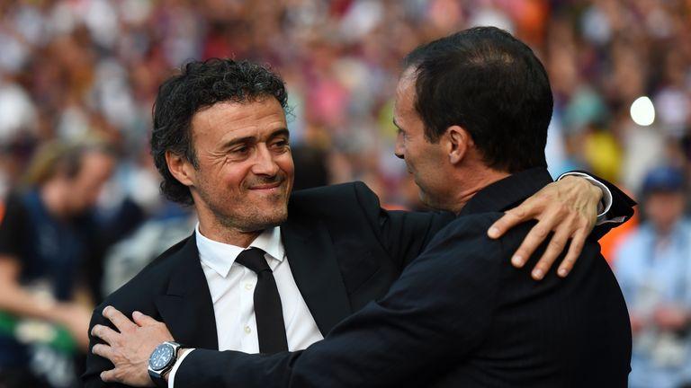 Luis Enrique (left) and Massimiliano Allegri