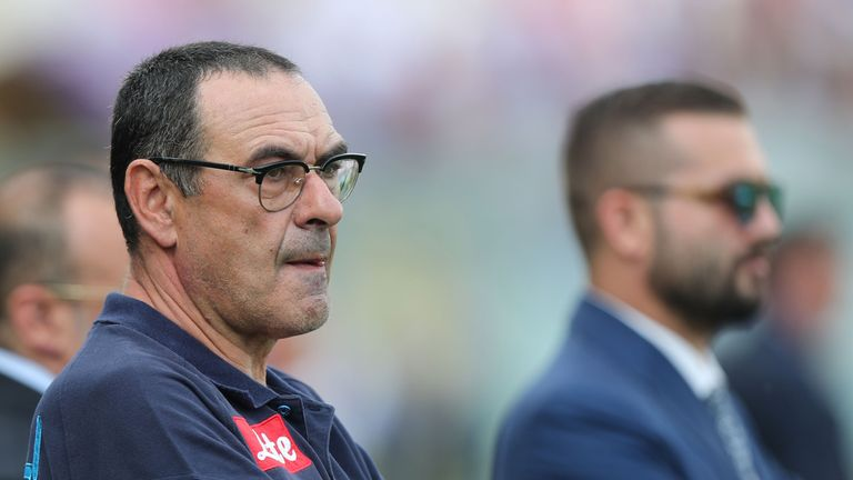 Maurizio Sarri's agent was in London on Tuesday to discuss a move to Chelsea, a source told Sky Sports News