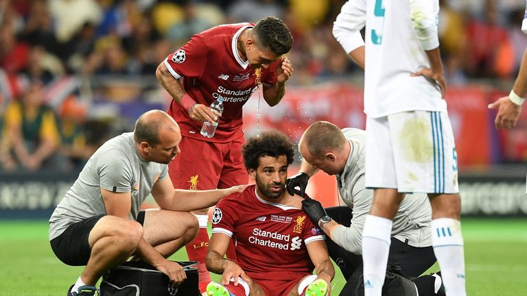 Mo Salah was injured in the Champions League Final defeat against Real Madrid last season