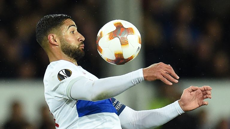 Lyon's Nabil Fekir has been linked with a move to Liverpool but says it is 'not close'