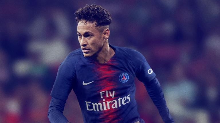 Neymar has modelled the new PSG strip despite uncertainty over his future