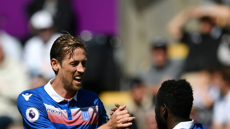 Peter Crouch did enough to take his place in the best-rated relegated XI