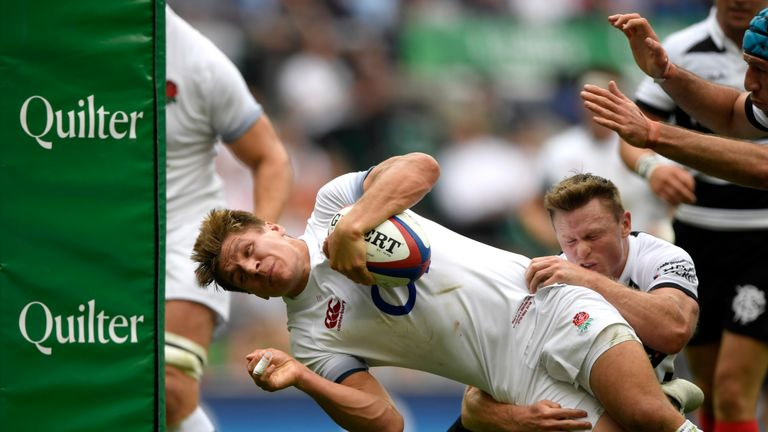 Piers Francis scored two tries from centre in an eye-catching display for England