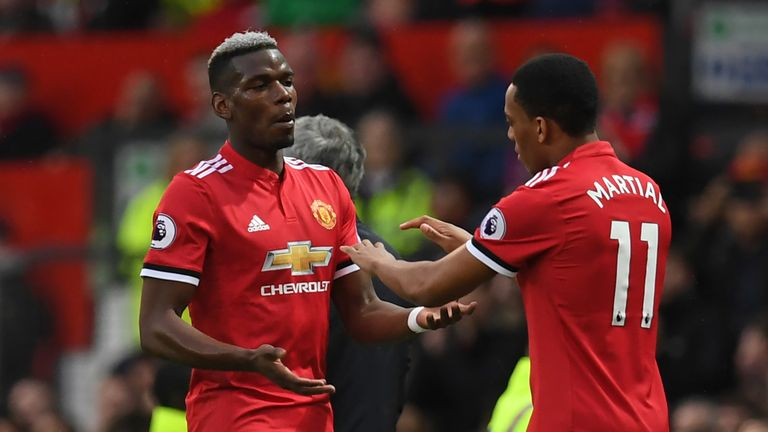 Paul Pogba and Anthony Martial