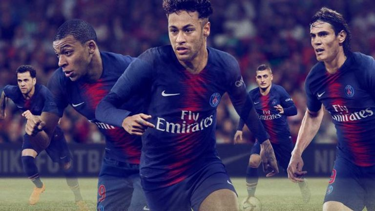 598b9c45ed3 Paris Saint-Germain have released their new 2018 19 home strip