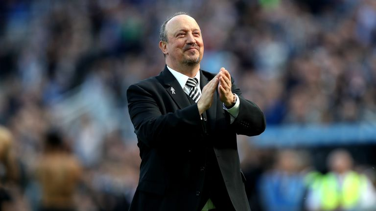 Rafa Benitez during the Premier League match between Newcastle United and Chelsea at St. James Park on May 13, 2018 in Newcastle upon Tyne, England.