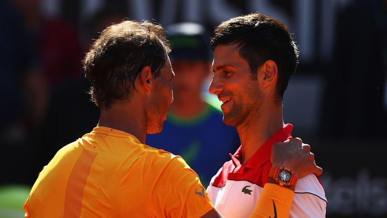 Rafael Nadal overcame Novak Djokovic in their semi-final meeting at the Italian Open