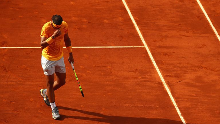 Rafael Nadal was on a 21-match and 50-set run on clay before his straight-sets defeat to Dominic Thiem in Madrid