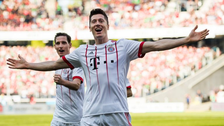 Lewandowski is Bayern Munich's all-time top foreign goalscorer